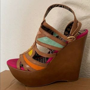Bright and fun Jessica Simpson wedges!